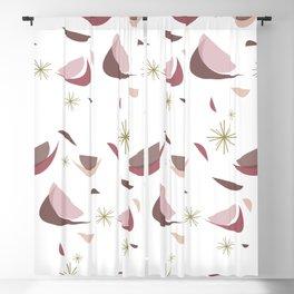 Retro 1950s Crescent Pattern Blackout Curtain