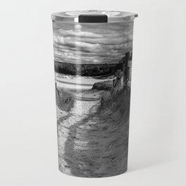 Beach Path (mono) Travel Mug