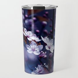 Magic Violet Apple Tree Blossoms Photography Travel Mug