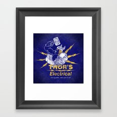 Thor - Thor's Electrical Framed Art Print