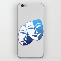 theater iPhone & iPod Skins featuring Theater Mask by Sport_Designs