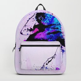 Purple howl to the moon Backpack
