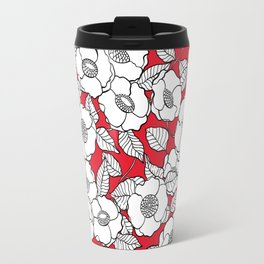 White roses pattern Travel Mug