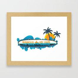 Topsail Island - North Carolina. Framed Art Print
