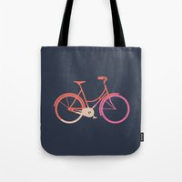 bike Tote Bags featuring Bike by Leandro Pita