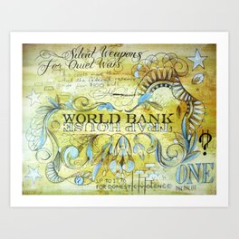 World Bank Trap House Art Print