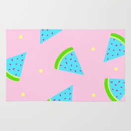 Watermelon in Pastel Neon | Watermelon Seed | Watermelon Home Decor | pulps of wood Rug