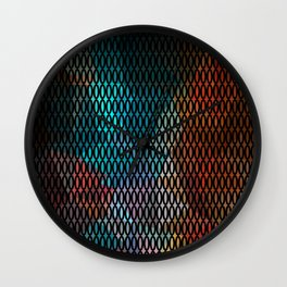 Abstract background of triangles polygon print. Bright dark design colors Wall Clock