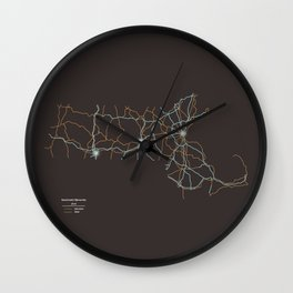 Massachusetts Highways Wall Clock
