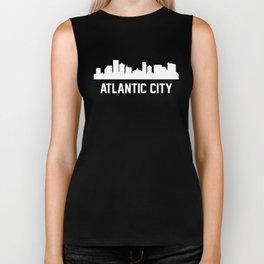 Atlantic City New Jersey Skyline Cityscape Biker Tank