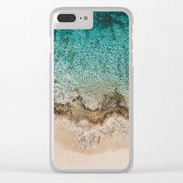 Caribbean Sea Blue Beach Drone Photo Clear iPhone Case