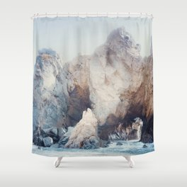 Rocks at Pfeiffer Beach Shower Curtain