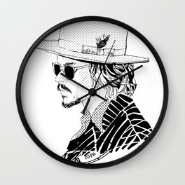 Johnny Depp with sun-glasses Wall Clock