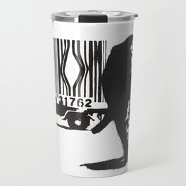 Banksy Animal Rights Artwork, Jaguar Tiger Barcode Prints, Posters, Bags, Tshirts, Men, Women, Youth Travel Mug