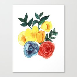 Watercolor Flower Bouquet Canvas Print