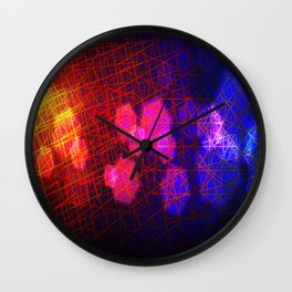 Saturday night party Wall Clock