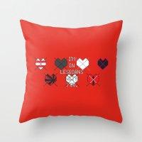 scott pilgrim Throw Pillows featuring Scott Pilgrim vs. The World - Scott by MacGuffin Designs