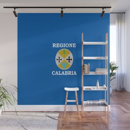 Flag of calabria Wall Mural