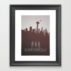 Chronicle (2012) minimal poster Framed Art Print