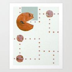ManPac Acid large rectangular Art Print