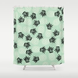 Mint Pineapple Pattern 023 Shower Curtain