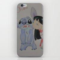 ohana iPhone & iPod Skins featuring Ohana by Sierra Christy Art