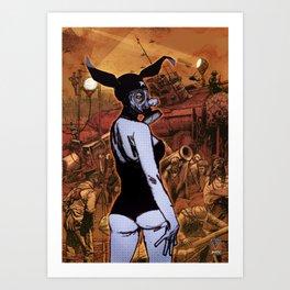 War Bunny Art Print