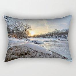 Down the Frozen River 2 Rectangular Pillow