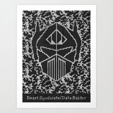 Data Raider Art Print