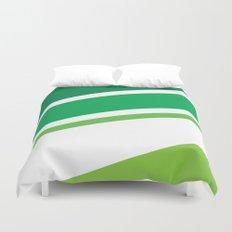 Green Stripes Duvet Cover