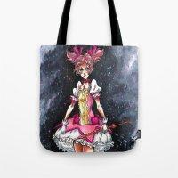 madoka Tote Bags featuring Madoka Magica by Refrigerator-Art