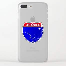 Alaska Interstate Sign Clear iPhone Case