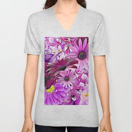 Purple Bouquet Unisex V-Neck