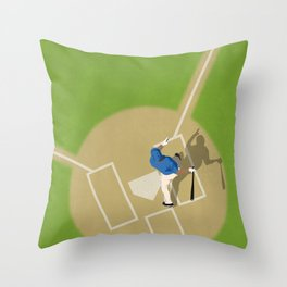 Baseball Player From Above  Throw Pillow