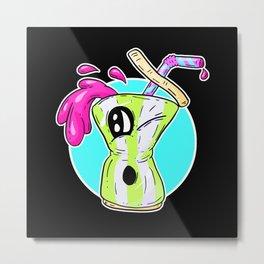 Fast food FRENZY! Cherry Cinema Fizzy Pop Neon Metal Print