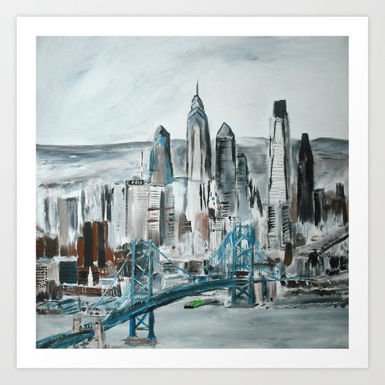 Philadelphia, Pennsylvania, USA Fine Art Acrylic Painting Art Print