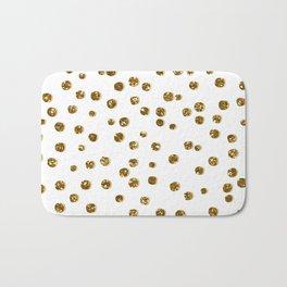 Gold Glitter Confetti Bath Mat