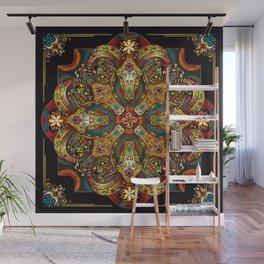 Mandala Sacred Rams - Dark Version Wall Mural