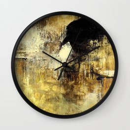 Neutral Abstract Wall Clock