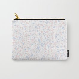 'Speckle Party' Lilac + Pink Dots Speckle Terrazzo Pattern Carry-All Pouch