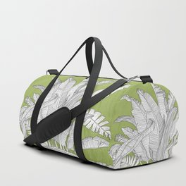 Banana Leaves Illustration - Green Duffle Bag