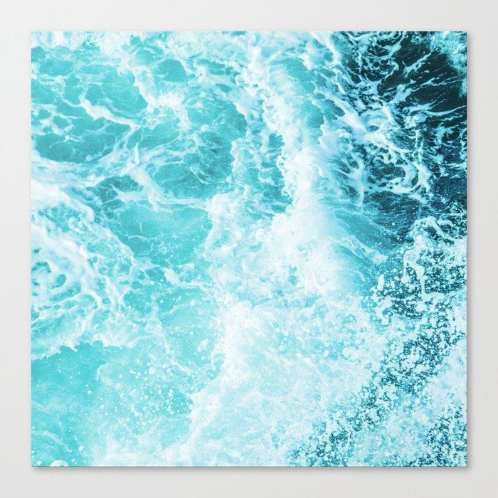 Perfect Sea Waves Leinwanddruck