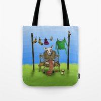 sheep Tote Bags featuring Sheep by Anna Shell