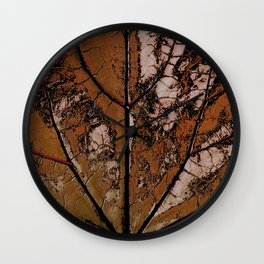 OLD BROWN LEAF WITH VEINS SHABBY CHIC DESIGN ART Wall Clock