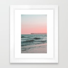 Pink Ocean Framed Art Print