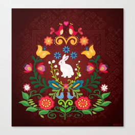 Bunny Of The Flowers Canvas Print