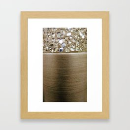 Gold Iridescence and Mirrors Framed Art Print