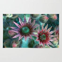 Succulents Flower Garden Rug