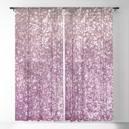 Sparkling BLACKBERRY CHAMPAGNE Lady Glitter #1 #decor #art #society6 Sheer Curtain