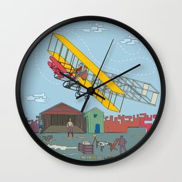 First Flight 1903 Wall Clock